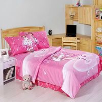 Sakura Kinomoto print bedding single twin size bed covers sets bedclothes girl's bedroom decor cotton fabric 3 5pc pink color