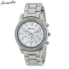 2 PACK Geneva Trend Watches Silver Gold Plated Basic Spherical Women Boyfriend Watch wholesale