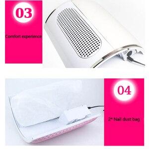 Image 5 - ماكينة تنظيف وتفريغ الأظافر من 3 مراوح قوية لشفط الغبار حجم كبير منخفض صاخب للأظافر