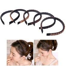 5Colors Women Wig Headband Braids Nylon,Polyester Hair Band Girls Korea Style Headband Lady Hair Accessories