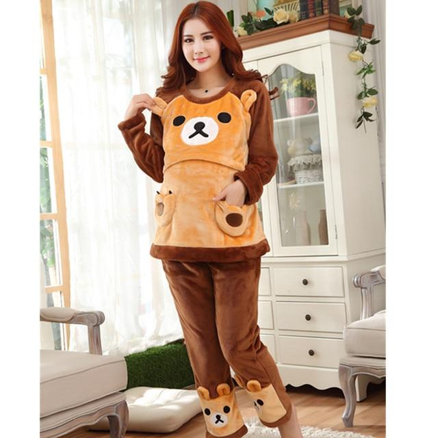 Top quality cotton winter big yards pregnant women pregnant Buru Yi suit pajamas home service