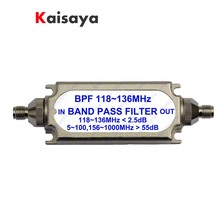 New SMA bandpass filter BPF 118 136MHz for aeronautical band A6 011