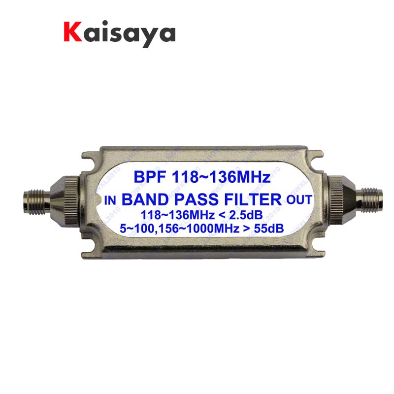 New SMA bandpass filter BPF 118-136MHz for aeronautical band A6-012 band filter bandpass filter active