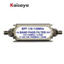 חדש SMA bandpass מסנן BPF 118 136 MHz עבור להקה אווירונאוטית A6 011