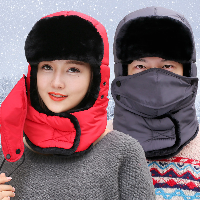 Prix pour Hiver En Plein Air Polaire Thermique Ski Chapeaux Capot Hommes Femmes Coupe-Vent Visage Masque Cache-Cou Casque Caps Pour la Randonnée Equitation Escalade