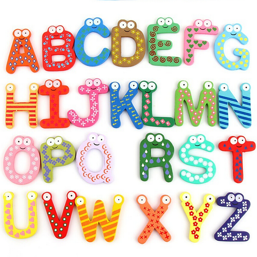 Colorful Lovely Number Baby Kids Children Wooden Alphabet