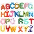 Colorido Número Precioso Bebé Niños Del Alfabeto de Madera Del Refrigerador Imanes de Nevera Figura de Palo Juguetes Educativos Aprender