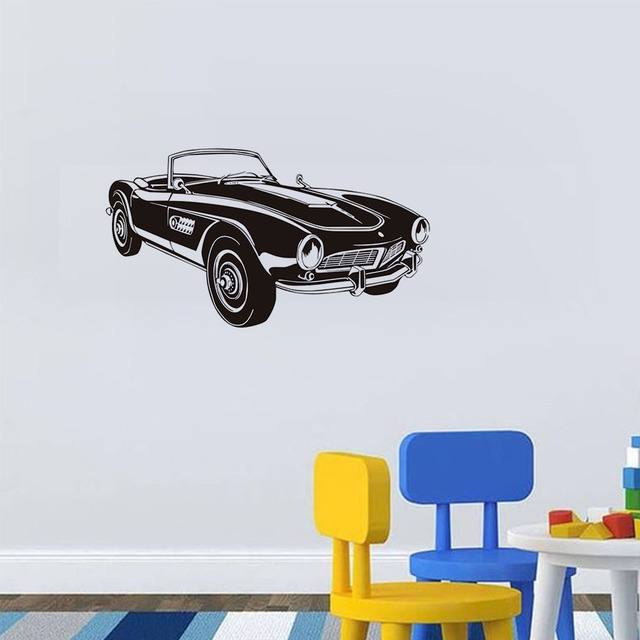 Retro Car Wall Decal Wall Vinyl Stickers Classic Vintage Car Home Interior  Removable Bedroom Decor Home