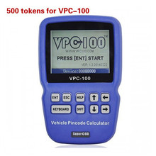 500 Tokens for VPC-100 Hand-Held Vehicle Pin Code Calculator Only Offer Tokens Service No Need Shipping Goods