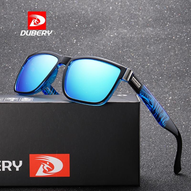 DUBERY Spuare Spiegel Sommer UV400 Marke Design Polarisierte Sonnenbrille Männer Fahrer Farbtöne Männlichen Vintage Sonnenbrille Für Männer Oculos