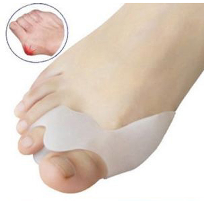 1PairSilicone Gel Hallux Valgus Protect Pain Relief Posture Corrector Beetle-Crusher Toe Separator Ectropion Corrector Foot Care
