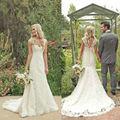 Fashion Wedding Dress 2016 hot Ivory/White Mermaid Bridal Gown Lace Wedding Dress Custom Size 6 8 10 12 14 16 Free shipping