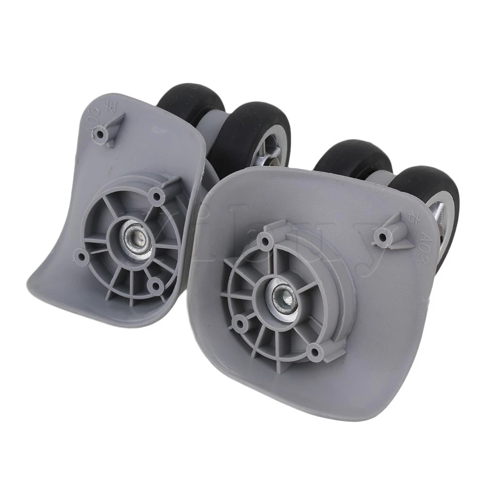 2x Grey 4.33x3.78x1.97 DIY Left&Right Luggage Wheel Replacement ...