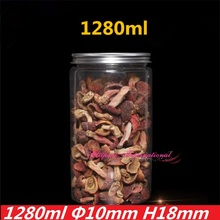 10*18cm 1280ml Large Kitchen Airtight Plastic Jars 45OZ PET Sealed  Containers