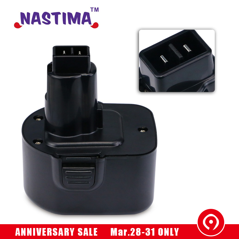 NASTIMA Ni MH 12V 3600mAh Replacement Batteries For dewalt de9074 DW9071 DW9072 DC9071 DE9037 DE9071 DE9072