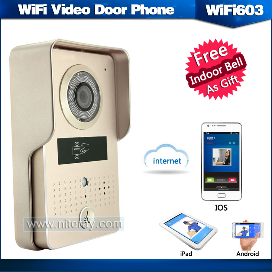 Wireless door bell wireless video door phone intercom system support both IOS and Android phone/ipad/tablet 2016 new wifi doorbell video door phone support 3g 4g ios android for ipad smart phone tablet control wireless door intercom