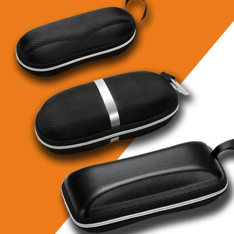1Pc Black Eyewear Cases Sunglasses Case For Women Glasses Box With Lanyard Zipper Glasses Case Hard For Men Glasses Cloth Bag