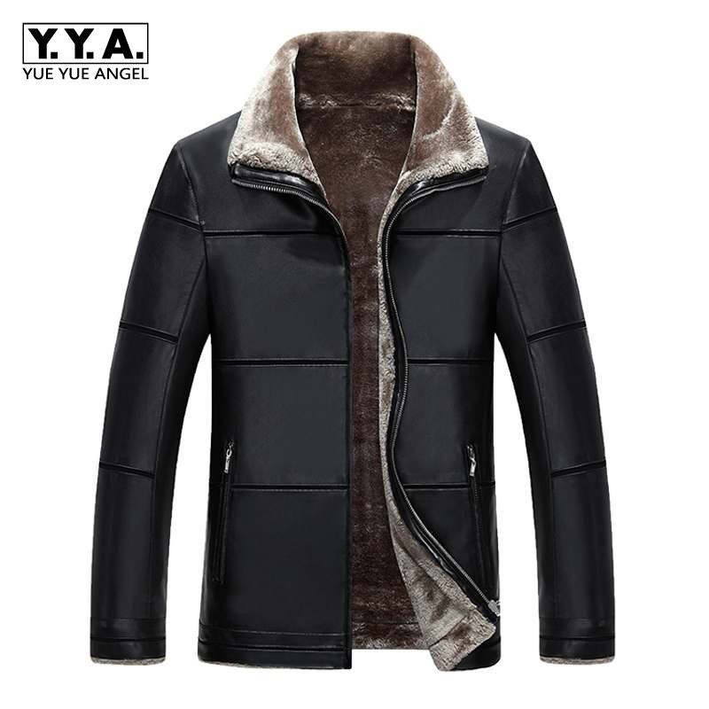 New Arrival 2018 Winter Soft PU leather Jackets Men Casual Thick Outwear Coat Mens Luxury Fleece Parka 8XL plus size