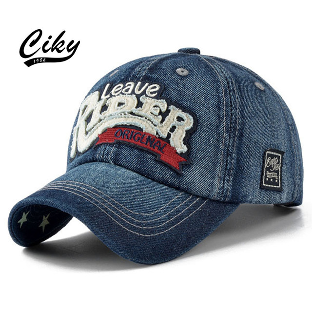 New Fashion Casual Adult Baseball Cap Boy Girl Gorras Denim Letter Embroidery Snapback Casquette Sport Outdoor Sun Hat B-198