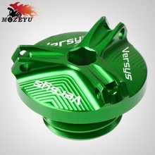 For KAWASAKI Versys 650 1000 VERSYS ABS M20*2.5 Aluminum Motorcycle Accessories Engine Oil Cup Motor Tank Cap Cover
