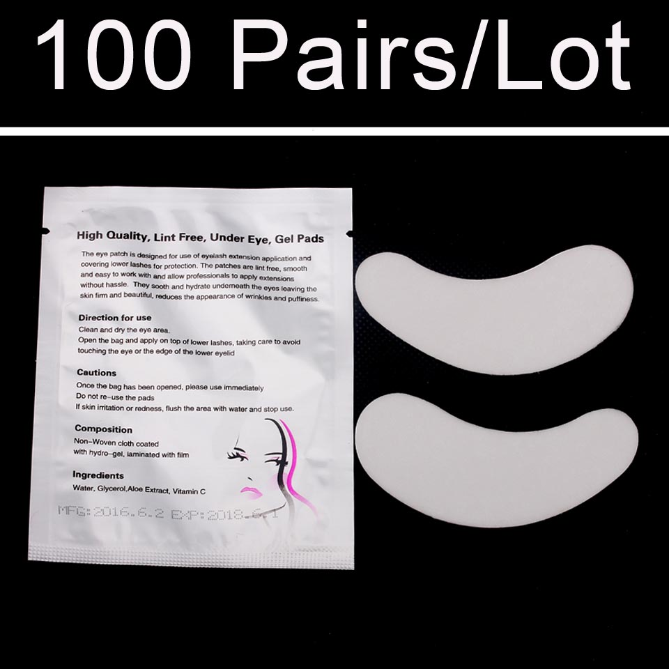 100 pairs/Bag Luxury Eye Pad For Eyelashes Extensions Makeup and Accessories Stickers Free Shipping