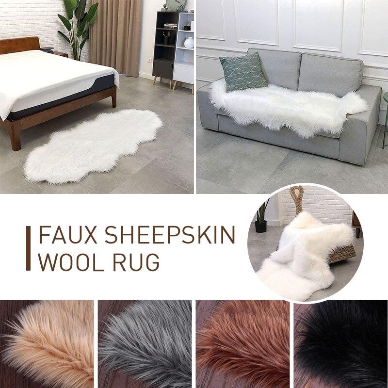 Tapis sol moelleux tapis plancher vague forme laine tapis salle à manger canapé chaise chaud 180X80 cm salon décoration maison tapis