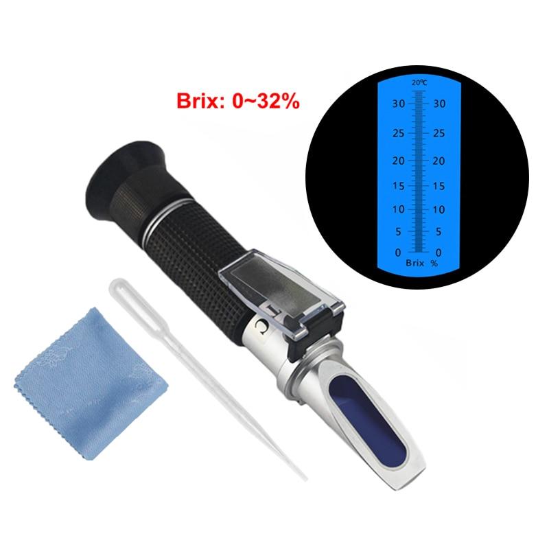 KETOTEK refractómetro Brix azúcar hierba 0-32% de refracción Tester medidor de mano portátil medidor de herramienta de medición