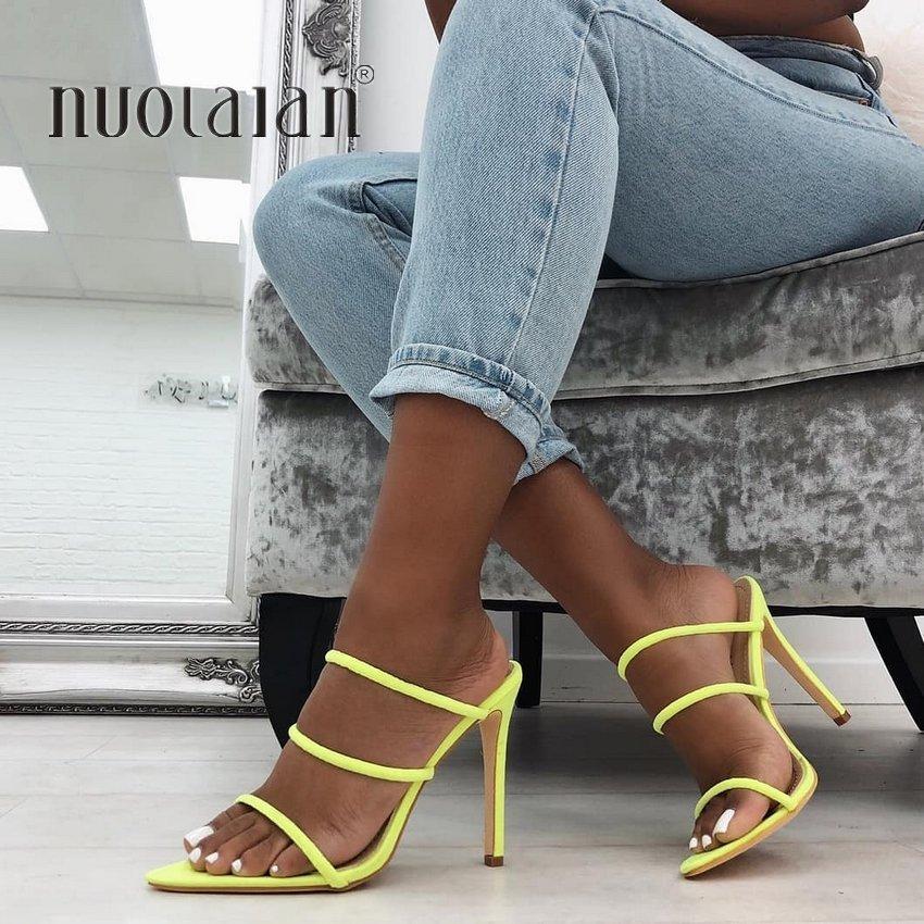 2019 Marke Mode Frauen Schuhe Offene Spitze Frauen Sandalen Slip-on Sexy High Heels Sandalen Sommer Schuhe Frau Alias Damen Schuhe