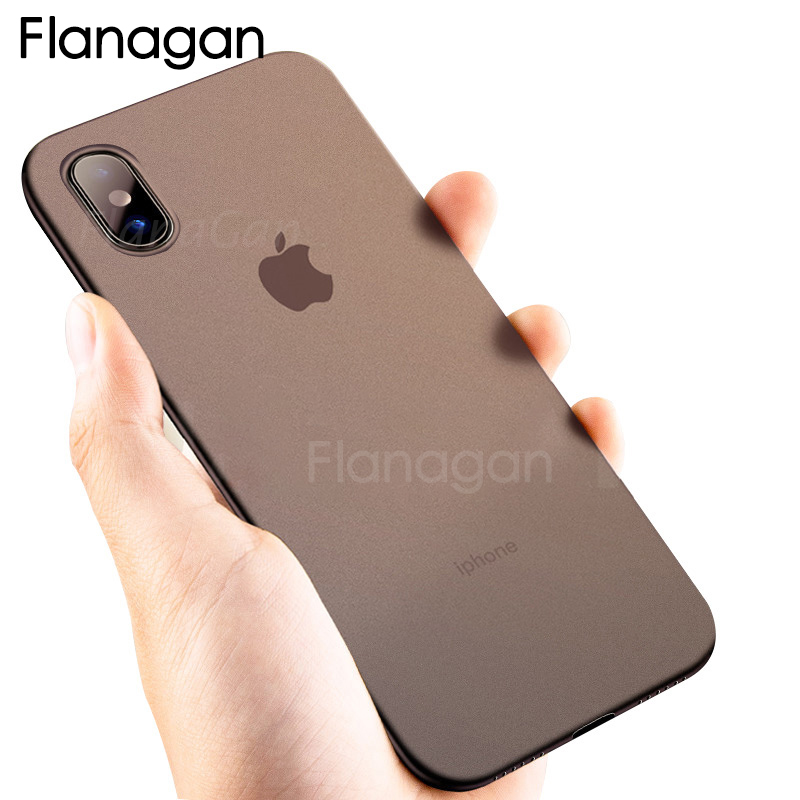 FlanaGan Ultra Thin Matte Phone Case For iPhone X 5 5S SE 10 Case 0.27mm Hard Cover For iPhone 6 6S Plus 8 7 Phone Bag Cases