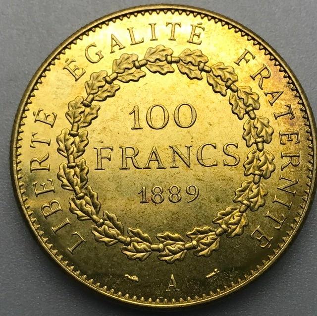 1889 A Frankreich Liberte Egalite Fraternite 100 Franken Gold