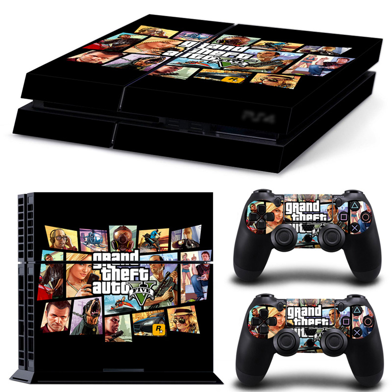 OSTSTICKER GTA 5 For Playstation 4 Vinyl Decal Skin Sticker For PS4 Console And Contreller Skin Sticker