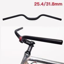 MTB Bicycle Bike Swallow-shaped Handlebar 31.8MM/25.4MM Cyling Retro Aluminum Alloy Handlebar Black Bicycle Parts Equipment ztto bicycle swallow shaped aluminum alloy handlebar 31 8 35 780 mm mtb mountain bike bicycle rise 780mm longer handlebar