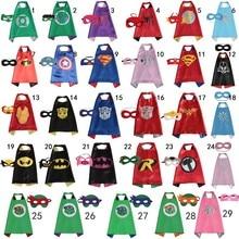 50 sets double sides Superhero capes cape with masks kids Batman/Spiderman/Robin costumes Party supplies