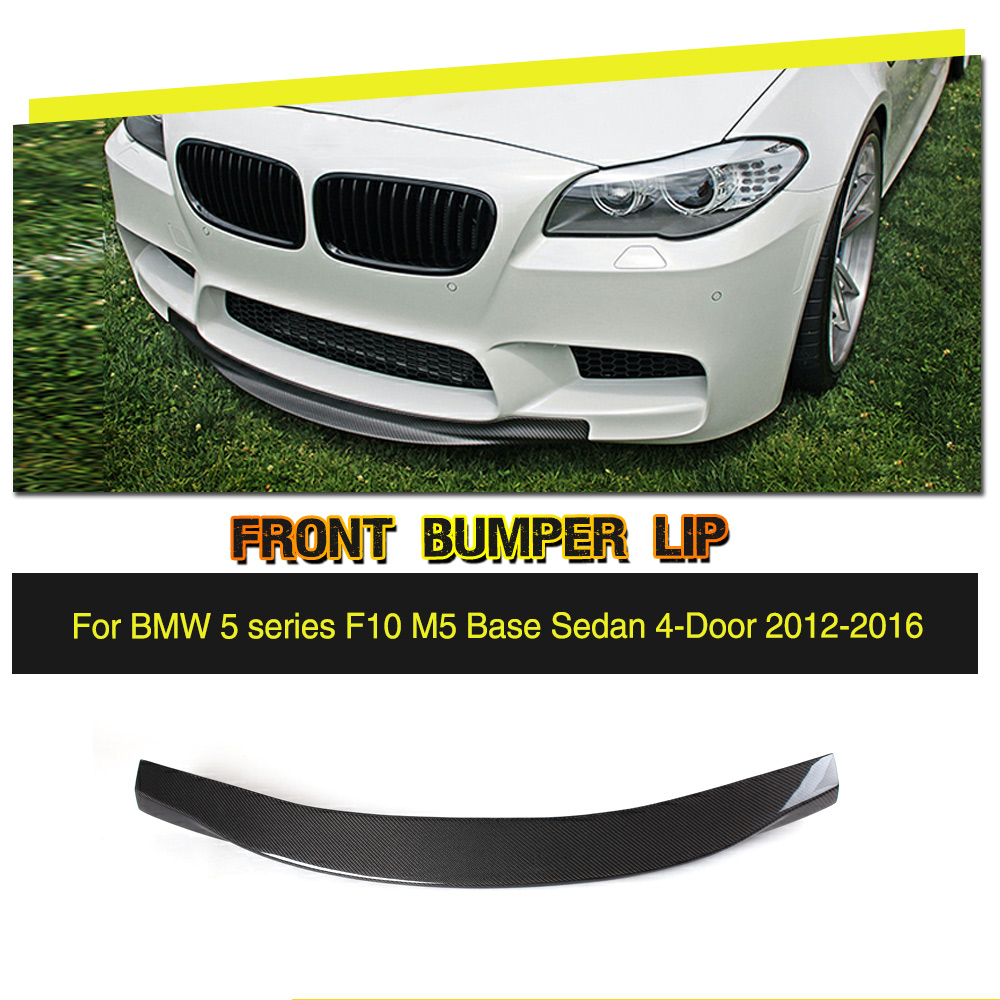 Car-Styling Carbon Fiber Front Lip Spoiler Aron For BMW 5 Series F10 M5 Bumper Only 2012-2016 Car Accessories цена