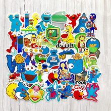 50pcs Sesame Street Suitcase Waterproof Sticker Single Sale Cool Laptop Luggage Fridge Phone Graffiti Notebook Stickers