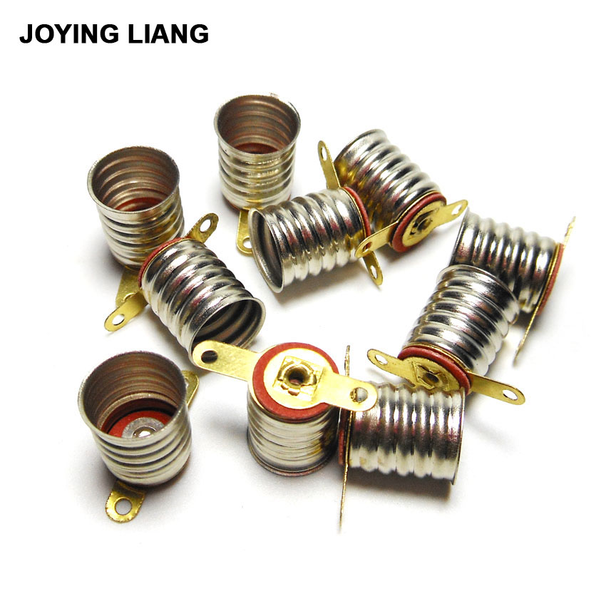 JOYING LIANG Mini Lamp Base Screw Type Student Physics Experiment Bulb Seat Old Falshlight Lamp Holder 10pcs/lot