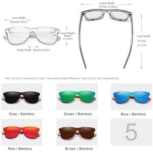 Image 3 - KINGSEVEN 2019 prawdziwe bambusowe okulary przeciwsłoneczne drewniane spolaryzowane drewniane okulary UV400 markowe okulary przeciwsłoneczne drewniane okulary przeciwsłoneczne z drewnianym etui