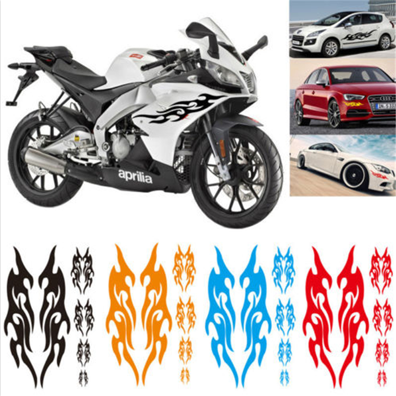 Pcs Cm Universal Car Sticker Styling Engine Hood Motorcycle - Custom vinyl decals covering for motorcycles