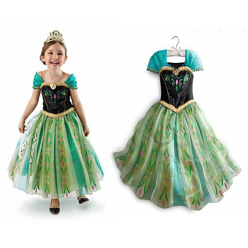 My Baby Girl Fashion Bomullklänning Barnkläder Girls Pony Dresses Elsa Anna Party Dresses Princess Kostym Barnkläder