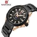 2016 Nova Men Watch NAVIFORCE Marca de Luxo Da Moda Quartzo de Aço Inoxidável Completa relógios de Pulso Dive relógio de Fase Da Lua Relógios Casuais Homens