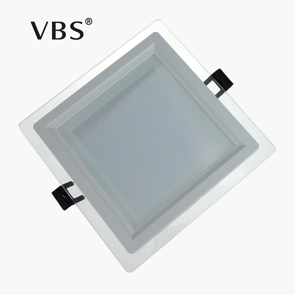 Us 7 84 40 Off Downlight Led Dimmable Square Led Ceiling 6w 12w 18w Glass Spot Led Encastrable Plafond Recessed Spot Lighting Indoor Downlight In