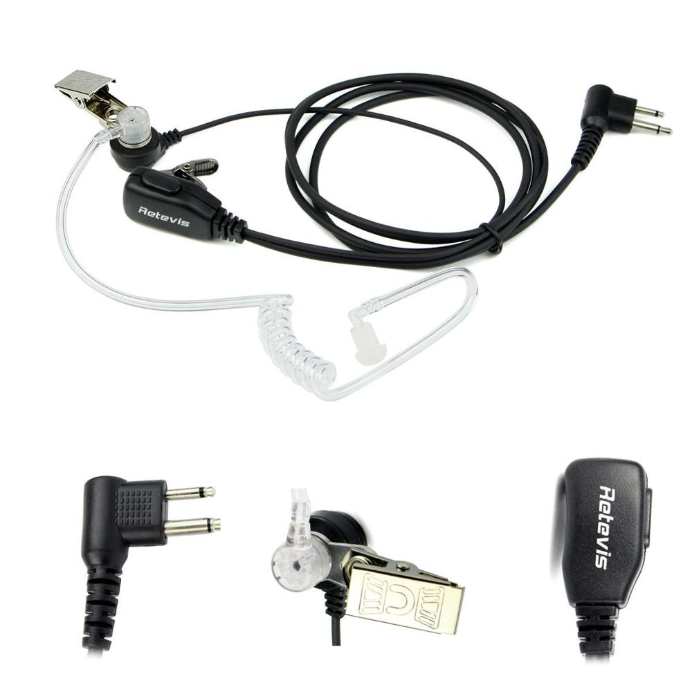 2 Pin Acoustic Tube Headset Earpiece For Kenwood HYT BAOFENG UV-5R BF-888S Ham Radio Walkie