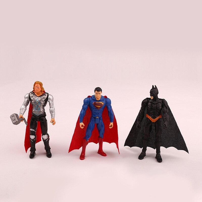 6pieces Super Hero Toy Doll Baby The Avengers Figures Hulk Capitán - Figuritas de juguete - foto 3