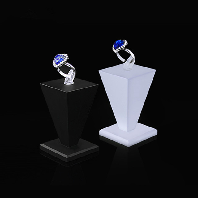 Acrylic Ring Display Holder Stand Seat Jewelry Dispaly 4 Color Jewellery