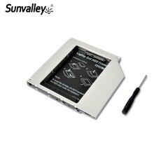 Sunvalley ультра тонкий SATA SATA3 9,5 мм Универсальный Алюминий 2nd hdd caddy для ноутбука Тетрадь серии
