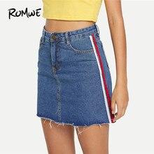 8633a5d6d55581 Frayed Denim Skirts Promotion-Achetez des Frayed Denim Skirts ...