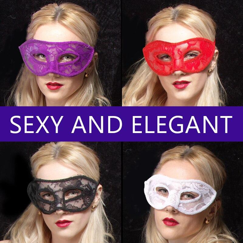 Doprava zdarma 10PCS plochá krajka maska tanec Halloween párty rekvizity svatební party dekorace Vánoční Benátky půl masky sexy zábava