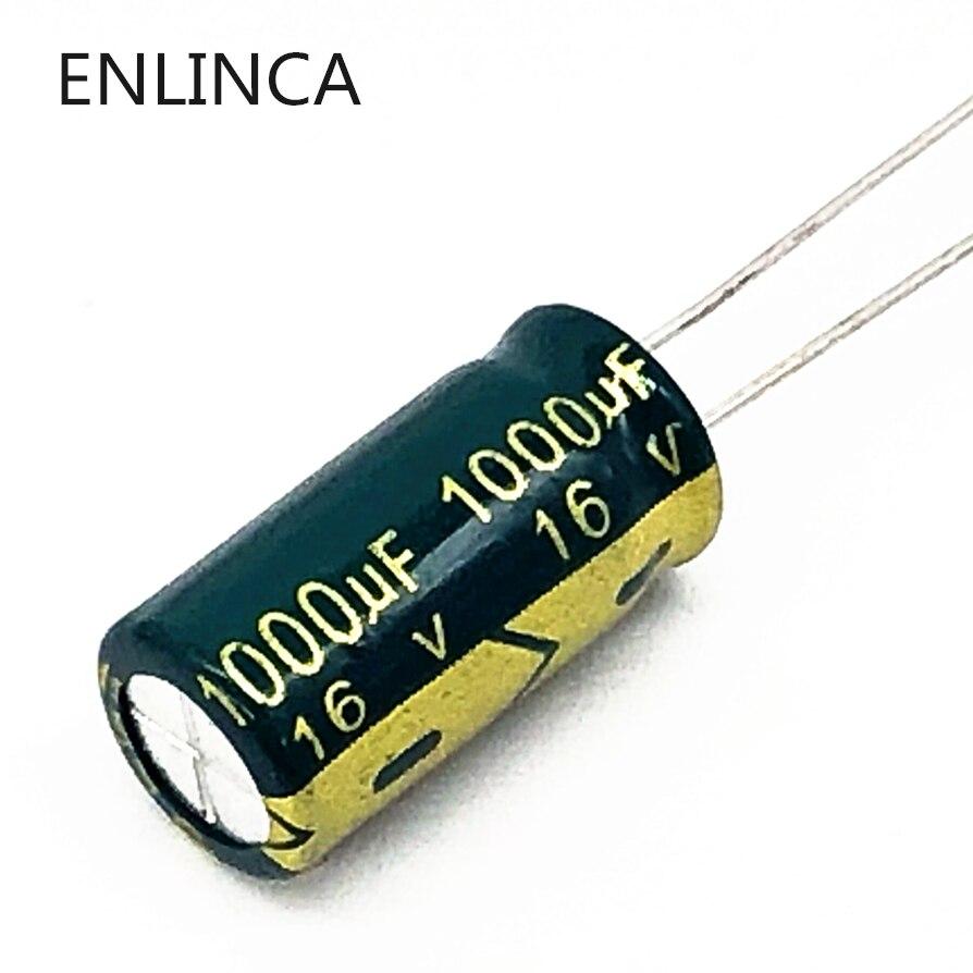 40pcs/lot P92 1000uf16V Low ESR/Impedance High Frequency Aluminum Electrolytic Capacitor Size 8*16 16V 1000uf 20%