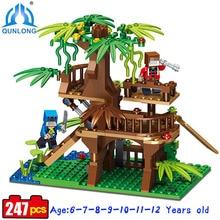Qunlong Minecraft Village Castle Modle font b Toy b font Compatible Legoe Minecraft Building Blocks Set