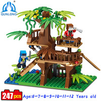 Qunlong My World Series Lookout Tree Towers Toy Compatible Legoe Bulilding Castle Brick Toys Set Educational